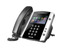 Click for large view of a Polycom VVX 600.