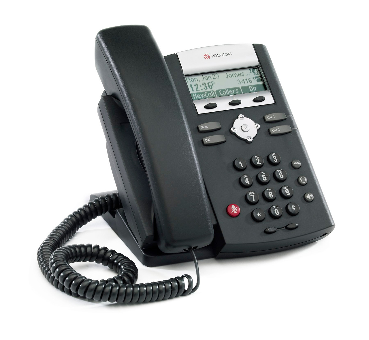 Click for large view of the SoundPoint IP 321 VoIP Telephone.