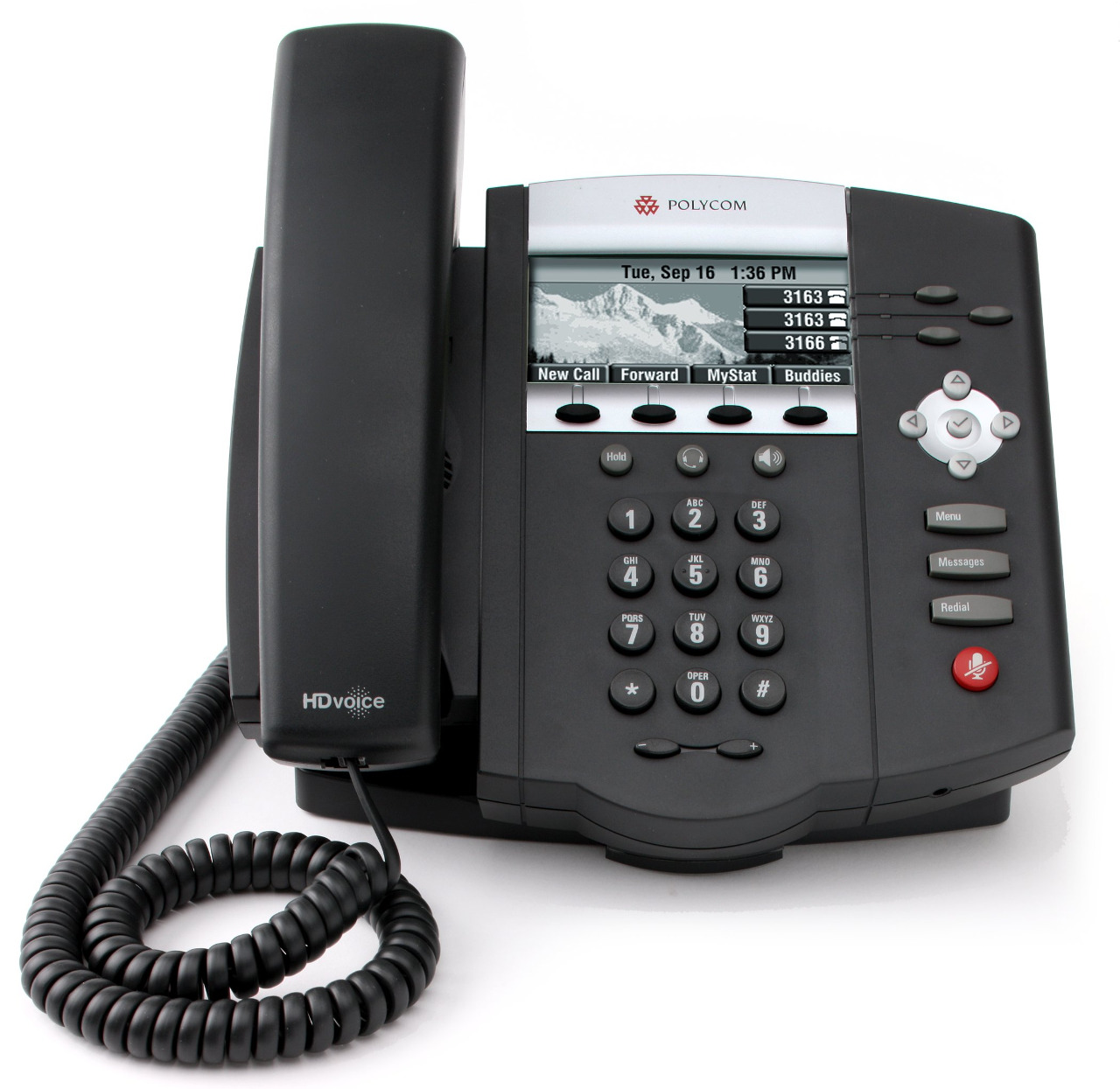 Click for large view of the SoundPoint IP 450 VoIP Telephone.