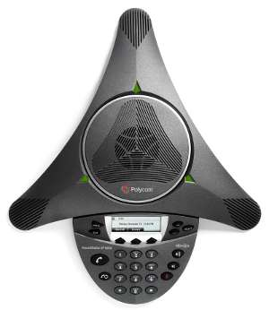 Click for large top view of a Polycom SoundStation IP 6000.