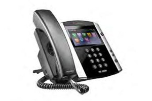 Click for large view of VVX 600 conference speaker phone.